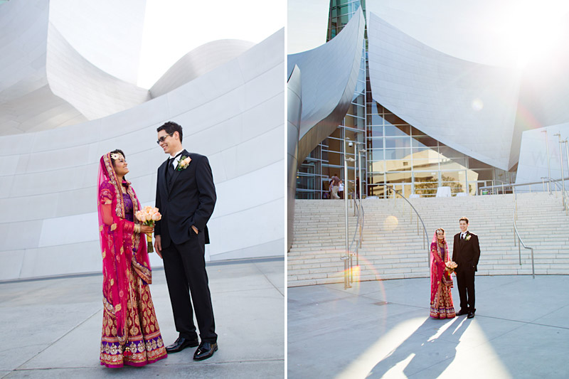 Los Angeles wedding photography of couple at walt disney concert hall (3 of 7)