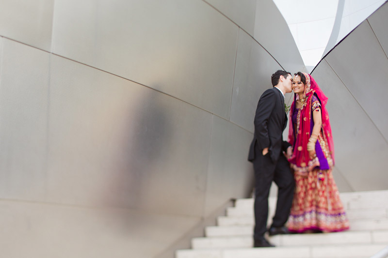 Los Angeles wedding photography of couple at walt disney concert hall (4 of 7)