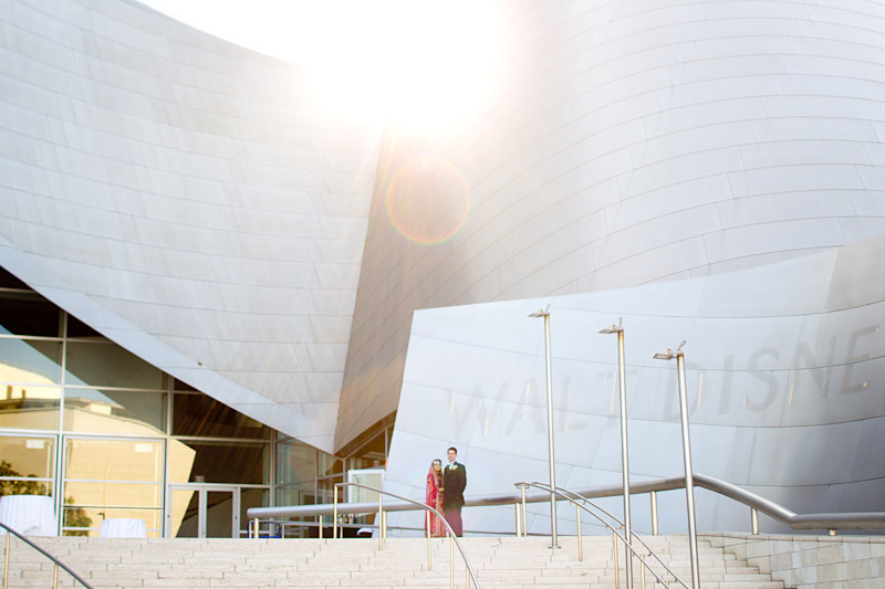 Los Angeles wedding photography of couple at walt disney concert hall (6 of 7)