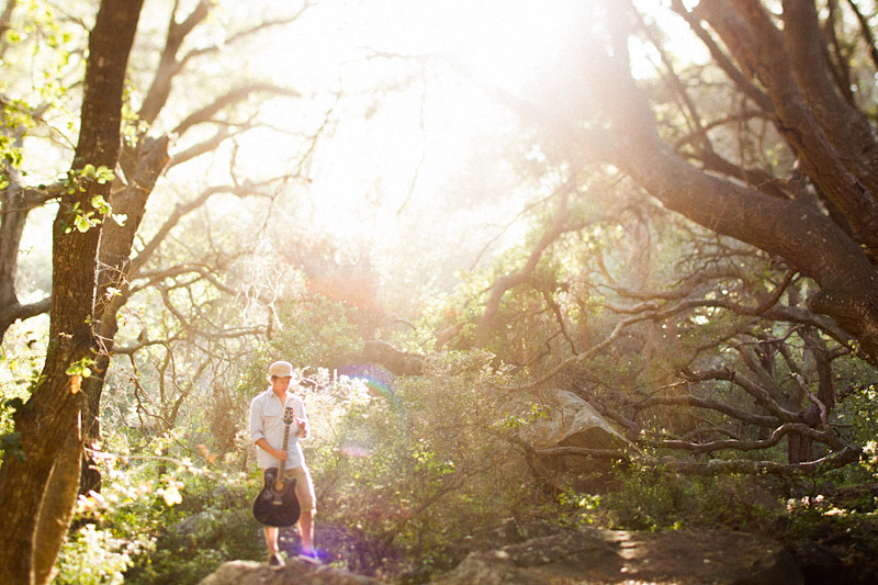 Joel VanZ central coast wedding videographer and musician hanging out in a forest on Bishops Peak (5 of 8)