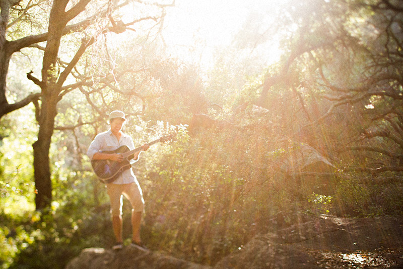 Joel VanZ central coast wedding videographer and musician hanging out in a forest on Bishops Peak (8 of 8)