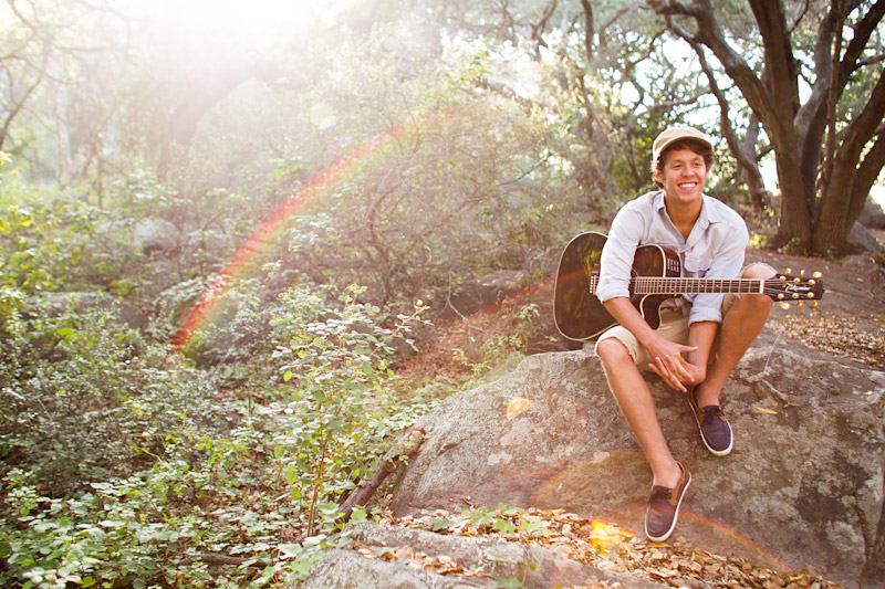 Joel VanZ central coast wedding videographer and musician hanging out in a forest on Bishops Peak (6 of 8)