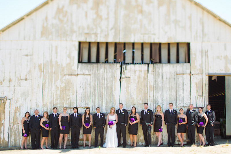 san luis obispo ranch wedding, portrait of the wedding party