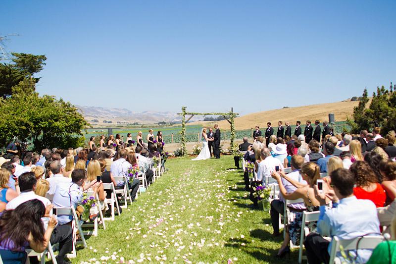 san luis obispo ranch wedding ceremony