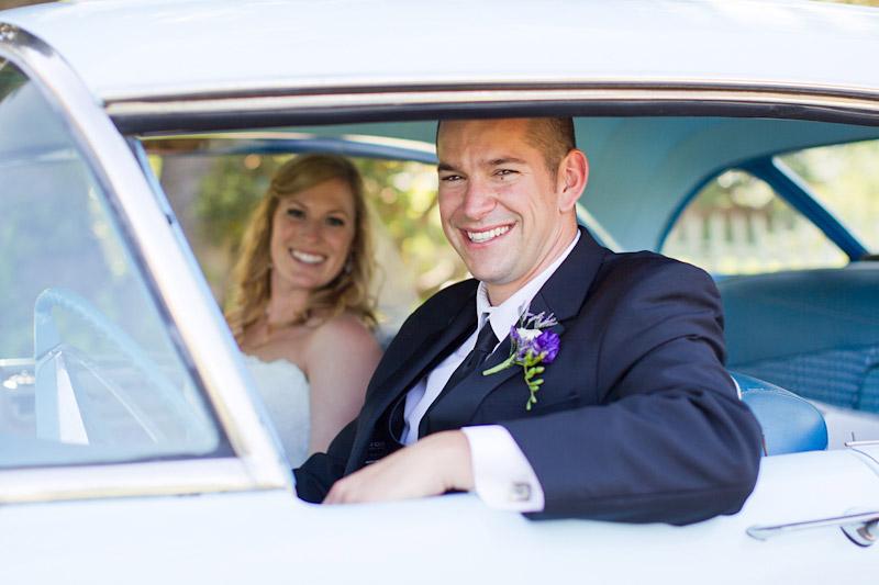 san luis obispo ranch wedding, couple portraits with vintage car (3 of 4)
