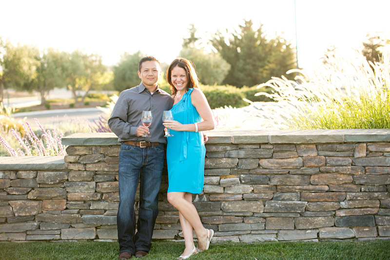 Tolosa winery engagement photo shoot of couple in the vineyards (2 of 5)