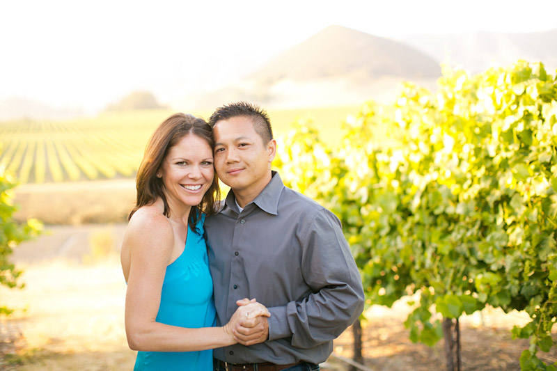 Tolosa winery engagement photo shoot of couple in the vineyards (3 of 5)