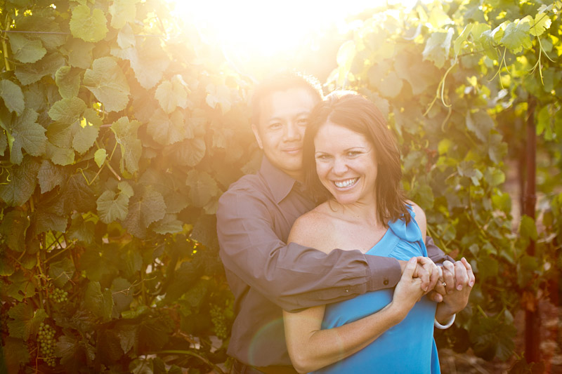 Tolosa winery engagement photo shoot of couple in the vineyards (5 of 5)