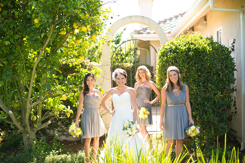 edna valley wedding photography bridesmaids photo