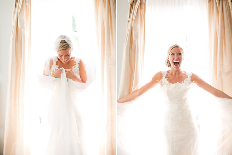 San Luis Obispo Wedding, Dana Powers House, Bride standing in window wrapped in curtains and light