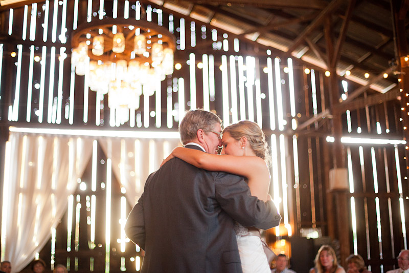 San Luis Obispo, Dana Powers Barn Wedding, bride dances with her father.