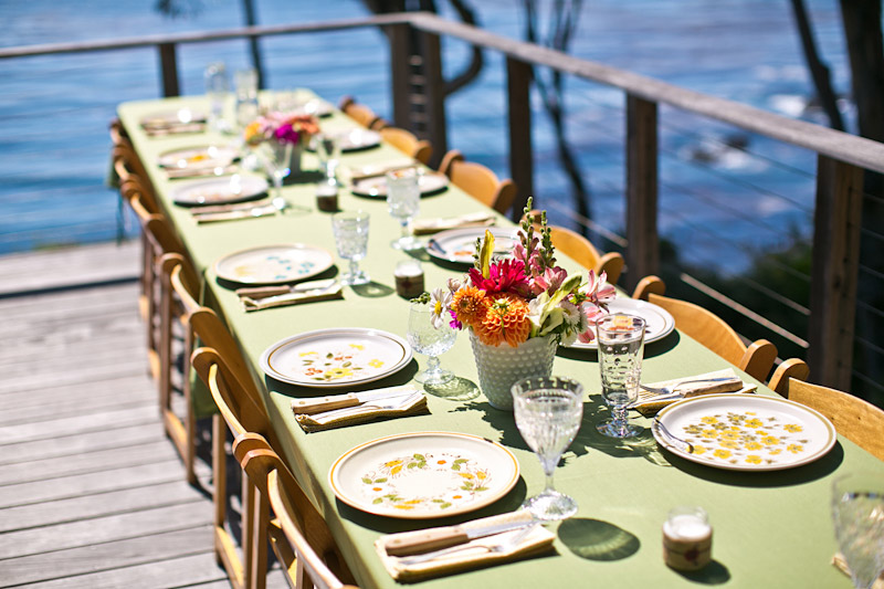 big sur wedding reception decor
