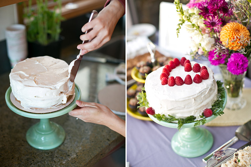 big sur wedding, homemade wedding cake