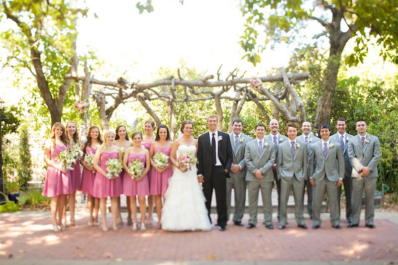 san luis obispo wedding at the adobe, wedding party