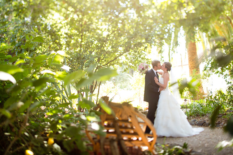 central coast wedding, portraits of the bride and groom in a garden (3 of 4)
