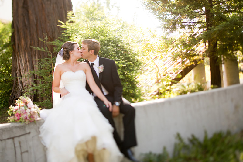 central coast wedding photography, bride and groom in the trees