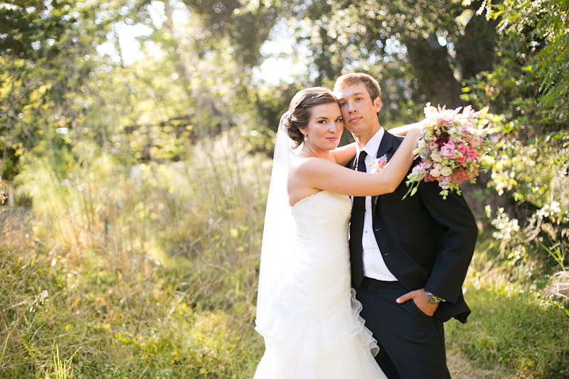 central coast wedding, portraits of the bride and groom