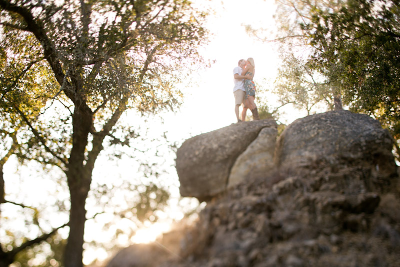 central coast engagement session, couple climbing on the rocks (1 of 2)