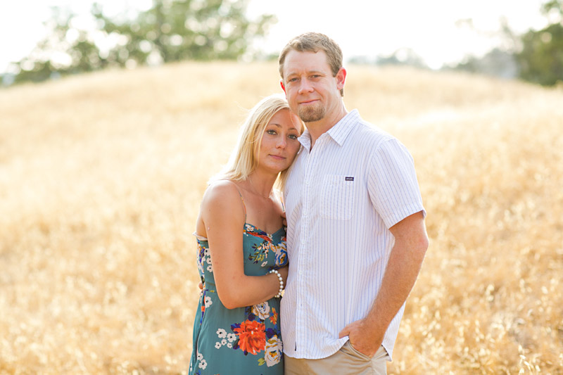 san luis obispo engagement photos, couple in a field (2 of 4)