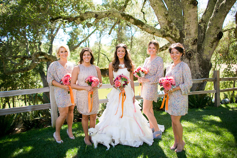 central coast wedding at lago giuseppe, bridal party