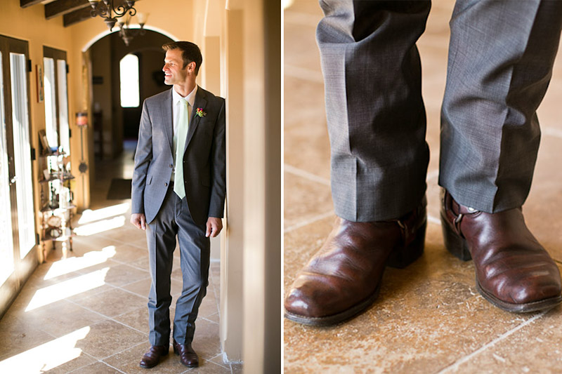 slo wedding, groom portraits and boots