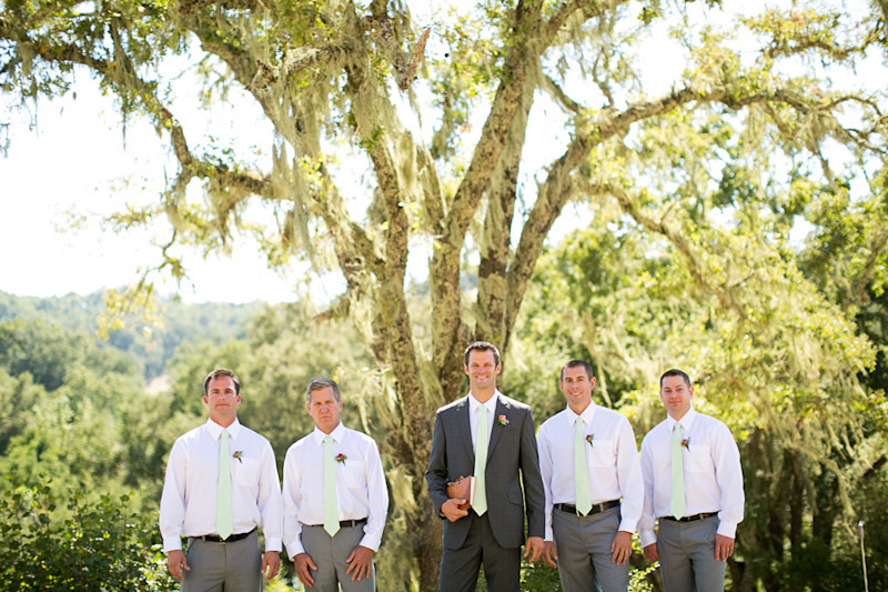 central coast wedding at lago giuseppe, groom and his groomsmen