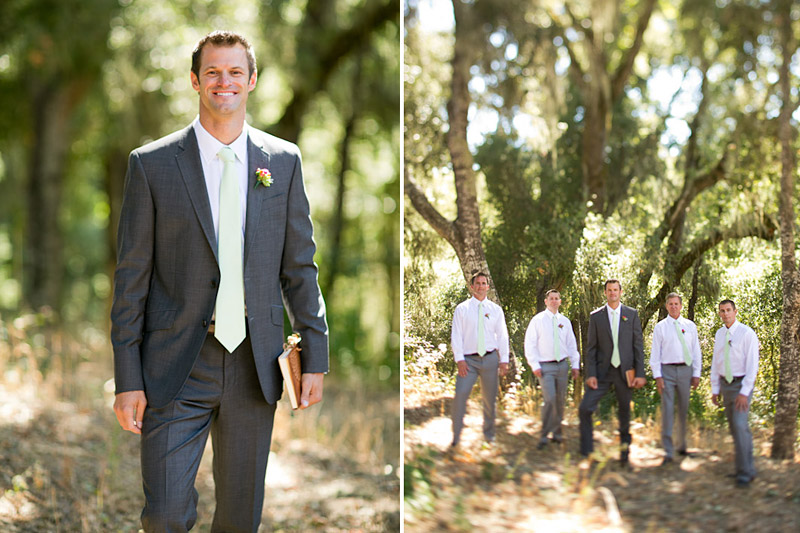 central coast california wedding, groom and groomsmen