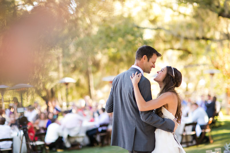 central coast wedding at lago giuseppe, bride and groom first dance
