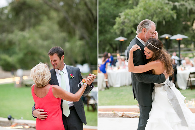 san luis obispo wedding, mother son, father daughter dances at lago giuseppe