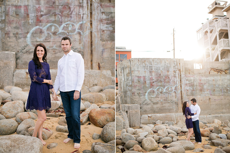 Monterey Engagement Photos of couple on the beach at Canary Row (2 of 4)