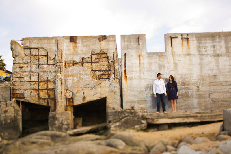 Monterey Engagement Photos of couple on the beach at Canary Row (4 of 4)