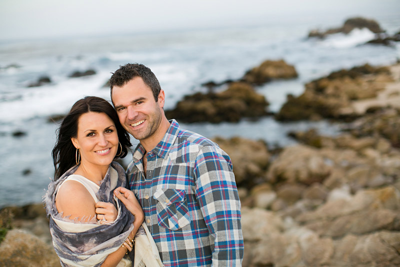 Monterey Engagement Photos of couple on the beach at 17 Mile Drive (1 of 5)