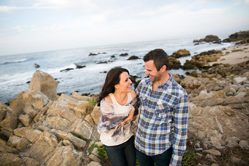 Monterey Engagement Photos of couple on the beach at 17 Mile Drive (2 of 5)