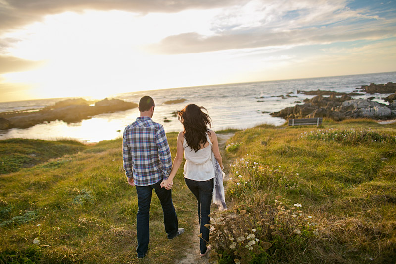 Monterey Engagement Photos of couple on the beach at 17 Mile Drive (3 of 5)