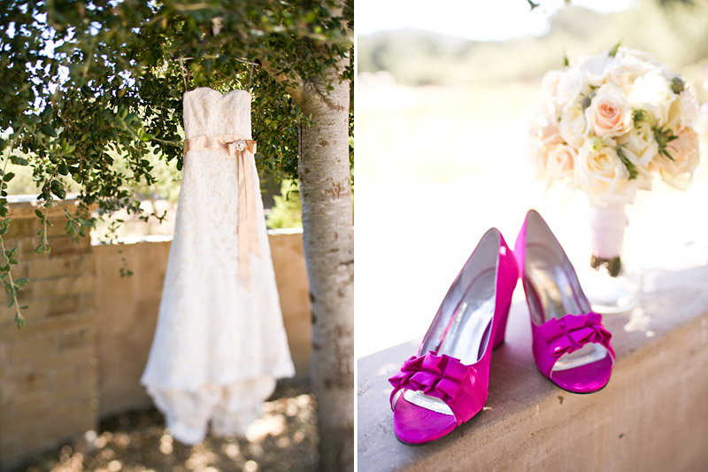 central coast wedding photos, bridal gown and shoes