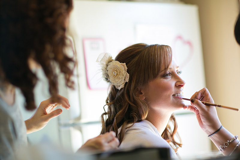 templeton wedding, bride getting ready