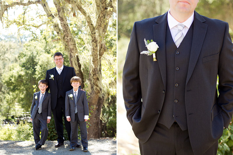 slo wedding photos, father and sons