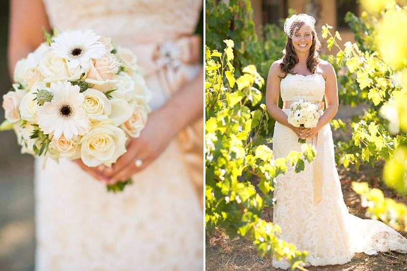 san luis obispo wedding, bridal portrats and boquet
