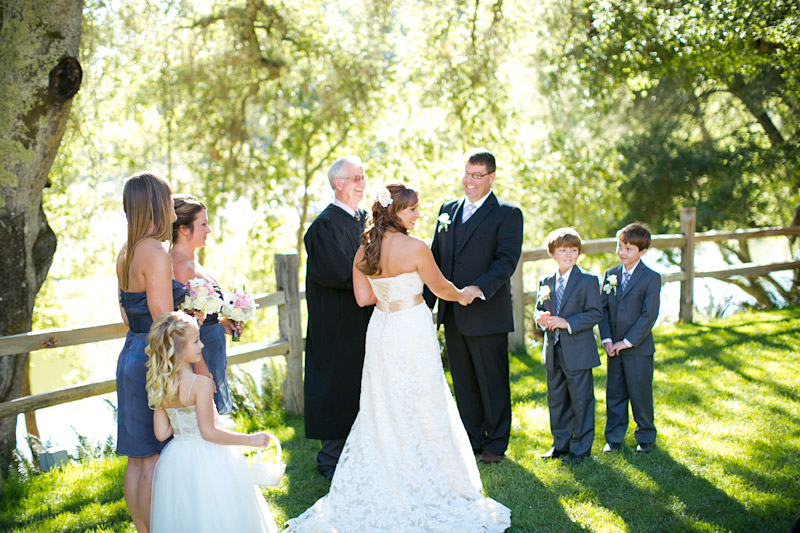 central coast wedding ceremony at lago guiseppe in templeton (1 of 4)