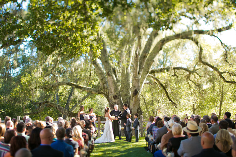 central coast wedding ceremony at lago guiseppe in templeton (2 of 4)