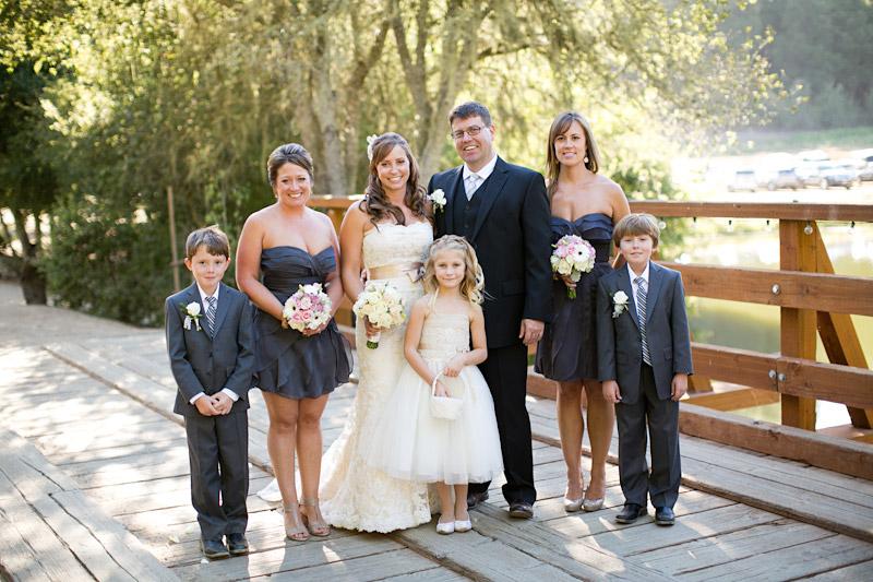 central coast wedding, bridal party portraits