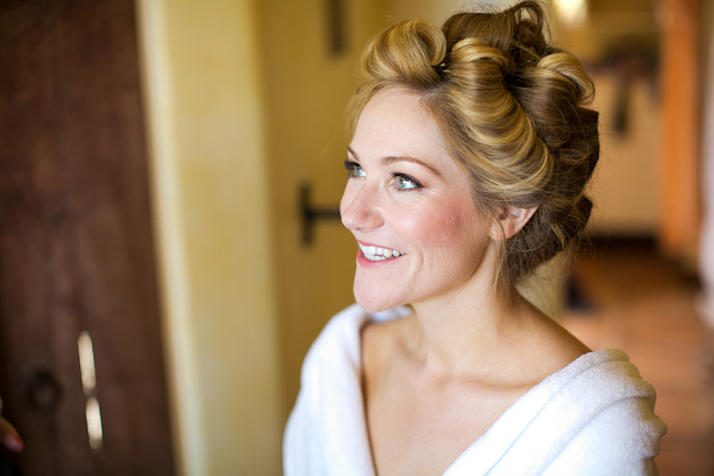 Central coast wedding bride getting ready at Su Casa