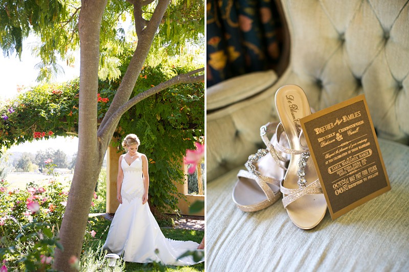 su casa, bride shoes and invites