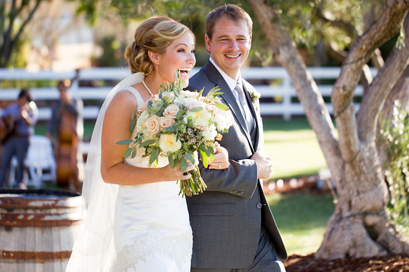 santa margarita ranch wedding  couple walking down the aisle