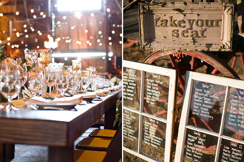 santa margarita ranch wedding reception details
