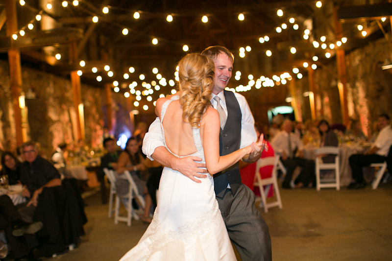 santa margarita ranch wedding, couple's first dance