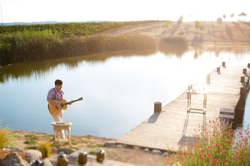 san miguel wedding, music by the water