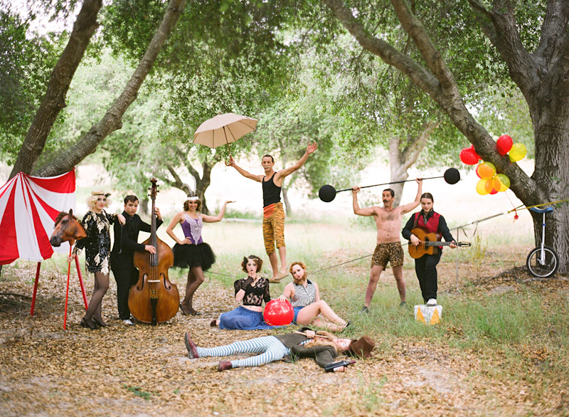 Loriana Ranch, San Luis Obispo Vintage Circus Freak Show Blue Bird inspiration shoot