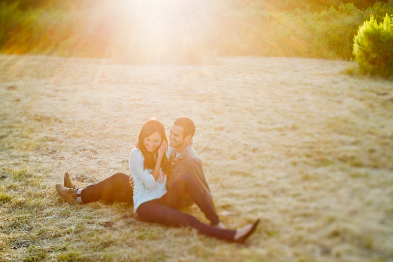 san luis obispo engagement session in a field