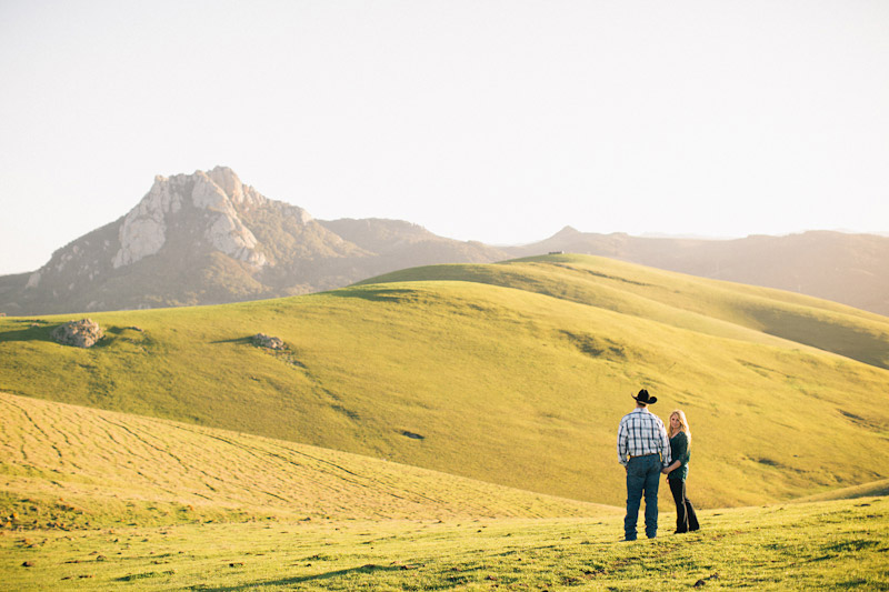 Central Coast Ranch Engagement pictures of couple with Hollister Peak in background by Cameron Ingalls.